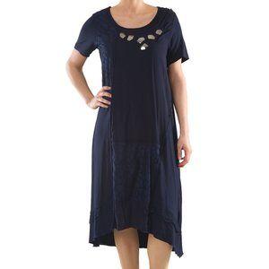 Plus Size Dress with Embellishments - La Mouette